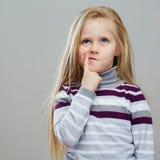 时尚孩子画象  免版税图库摄影