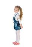 时尚小女孩的外形画象 免版税库存照片