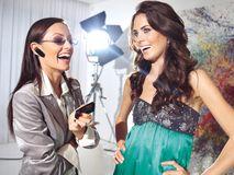 时尚工作室高级女式时装 免版税库存照片