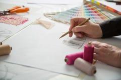时尚或裁缝设计师 免版税库存照片