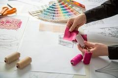 时尚或裁缝设计师 库存照片