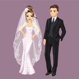 时尚新娘和新郎 库存例证