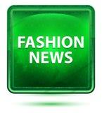 时尚新闻霓虹浅绿色的方形的按钮 库存例证