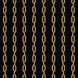 时尚无缝的样式金黄链子 免版税图库摄影
