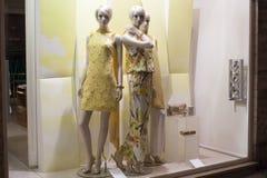 时尚时装模特陈列室显示购物零售 免版税图库摄影