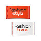 时尚样式和时尚趋向标签 免版税库存照片