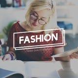 时尚样式衣物魅力趋向概念 免版税库存照片