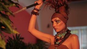 时尚照片写真女性式样摆在 影视素材