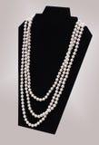 时尚珍珠项链 免版税图库摄影
