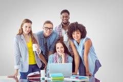 时尚的学生的综合图象以一团队工作 免版税库存图片