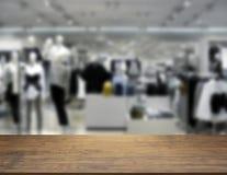 时尚购物中心的抽象迷离背景 免版税图库摄影