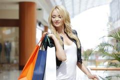 时尚购物妇女 库存照片