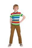 时尚逗人喜爱的小男孩 免版税库存图片
