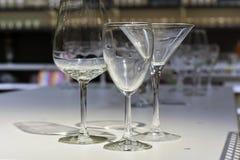 时尚玻璃玻璃 免版税图库摄影