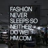 时尚H&M 图库摄影