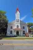 临时房屋施洗约翰教堂在Beaufort,南卡罗来纳垂直 免版税库存照片