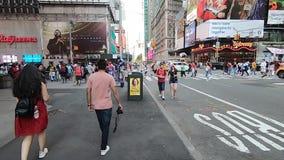 时报广场2019年7月4日纽约-2 股票录像
