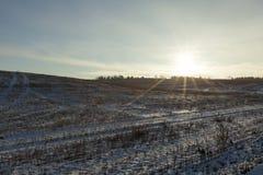 时数横向季节冬天 照片 免版税图库摄影
