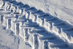 时数横向季节冬天 免版税图库摄影