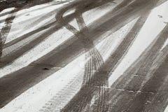 时数横向季节冬天 免版税库存图片