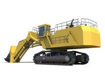 时段大量设备的挖掘机 免版税库存图片