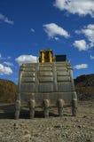 时段履带牵引装置挖掘机 库存图片