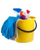 时段清洁物品黄色 免版税库存照片