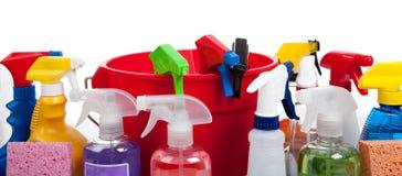 时段清洗的红色提供白色 免版税图库摄影