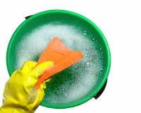 时段肥皂的水 免版税库存照片