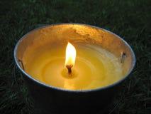 时段蜡烛香茅油 免版税库存照片