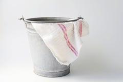 时段铺地织物被风化的锌 免版税库存照片