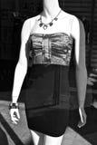 时装模特佩带的礼服 图库摄影