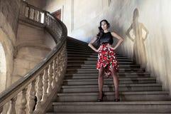 时装模特儿台阶 库存照片