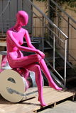 时装模特儿在度假 免版税图库摄影