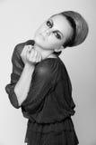 时装模特儿摄影投资组合 免版税库存照片