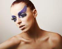 时装模特儿纵向 免版税库存照片