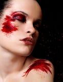时装模特儿纵向 免版税库存图片