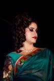 时装模特儿,亚洲印地安人 免版税库存图片