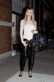 时装模特儿Karolina库尔科娃街道样式 库存照片