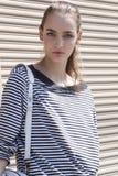 时装模特儿Zuzanna Bijoch秀丽画象在纽约 免版税库存图片