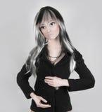时装模特女孩 免版税图库摄影