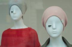 时装模特对于儿童时尚商店 免版税图库摄影