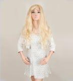 时装模特玩偶金发碧眼的女人 库存图片