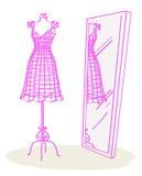 时装模特粉红色 向量例证