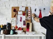 时装设计师时髦的陈列室概念 库存照片
