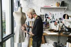 时装设计师时髦的陈列室概念 库存图片