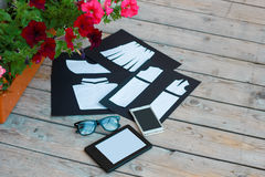 时装设计师的模板 免版税库存照片