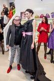 时装设计师Rocco Barocco在第一家单音品牌商店的营业日在俄罗斯 免版税图库摄影