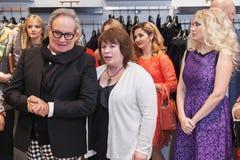 时装设计师Rocco Barocco在第一家单音品牌商店的营业日在俄罗斯 库存照片