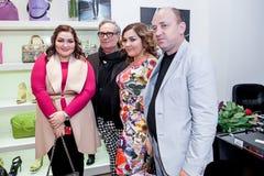 时装设计师Rocco Barocco在第一家单音品牌商店的营业日在俄罗斯 图库摄影